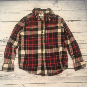 Boy's sz 8 plaid Old Navy button-up shirt